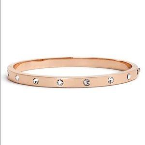KATE SPADE Bezel-set Polished Bangle Bracelet Rose Gold NWT